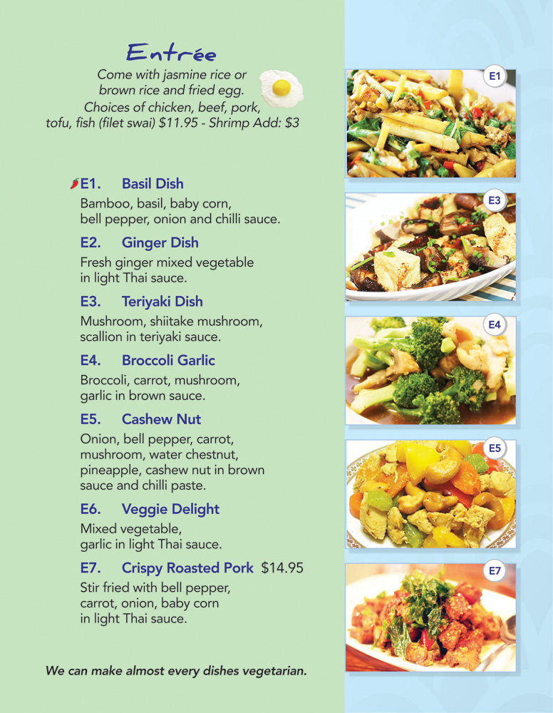 Thai Lotus Kitchen - Menu - Entrée