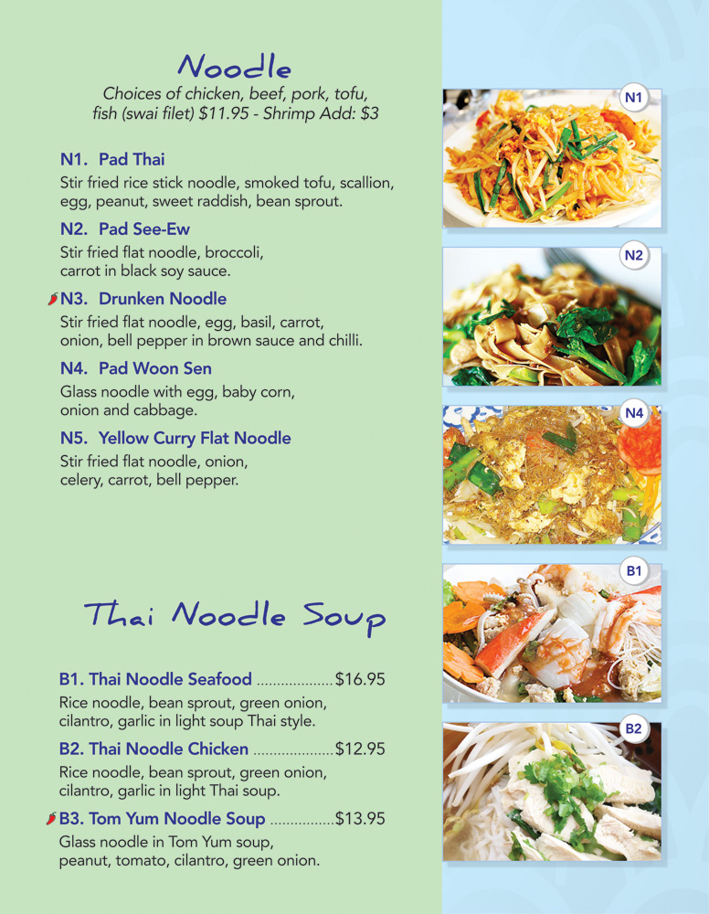 Thai Lotus Kitchen Menu Noodle