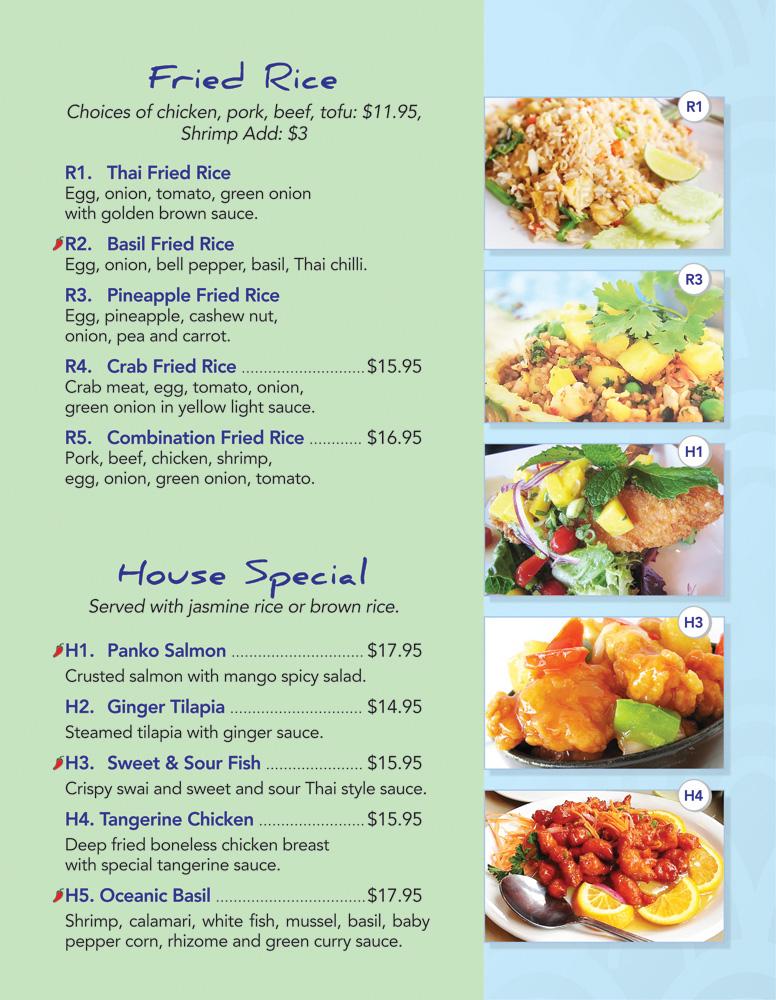 Thai Lotus Kitchen   Menu   Fried Rice House Special